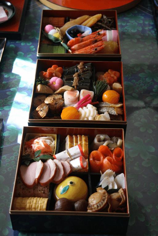 Comida japonesa de año nuevo