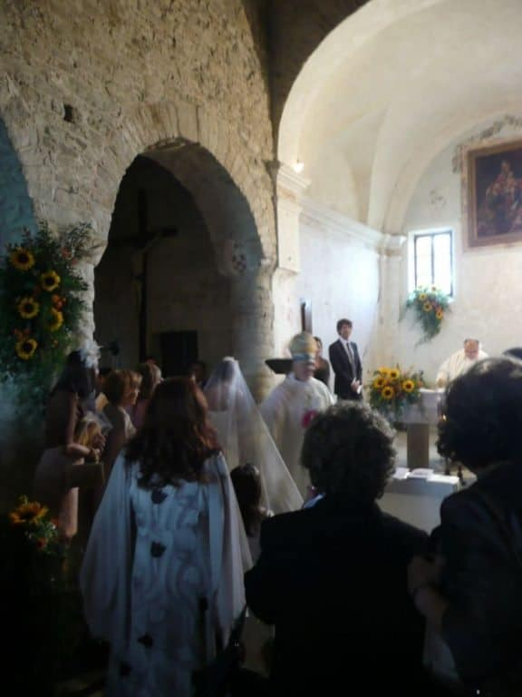 Wedding in a small old church