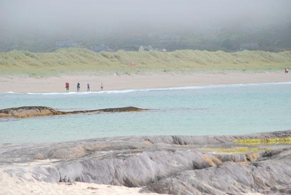 荒涼としたビーチ