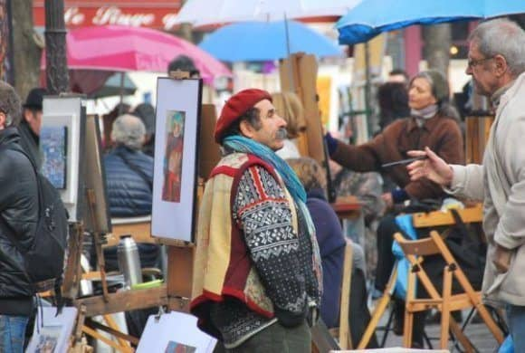 Un ritratto che dovrebbe somigliarci a Montmartre a Parigi