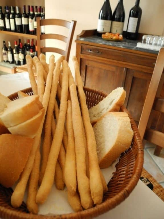 Piedmont, bread and grissini