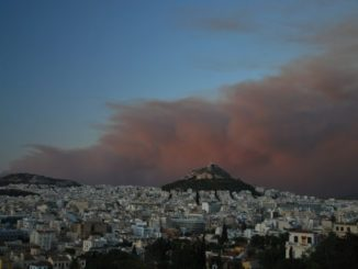 Forest fire in Athens