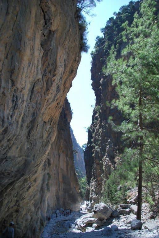 サマリア渓谷をちょっとだけ歩く