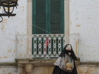 Hanging old woman