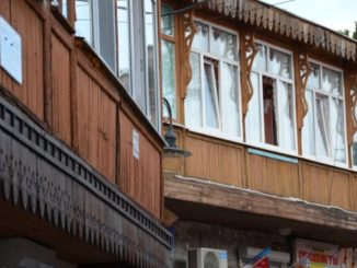La città di Gurzuf in Ucraina (Crimea)