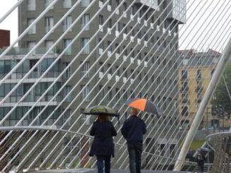 Walk in the heavy rain