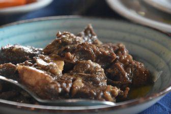 Italy-Sardinia-Alghero-agriturismo-Barbagia-veal stew