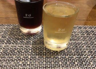 イタリア サルディニア島 アルゲーロ レストラン Il Pesce D'Oro ミルト酒 赤と白