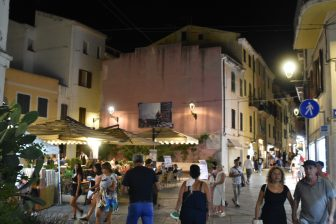 the supermarket in Alghero and the night scene