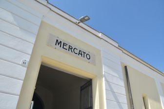 イタリア サルディニア島 アルゲーロ 市場 入口