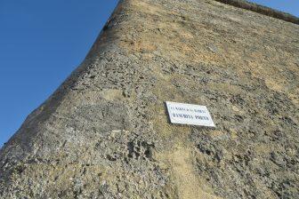 Italy-Sardinia-Alghero-city wall-sign