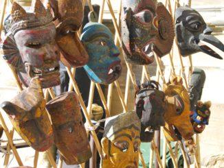 Italy, Arezzo – masks, Nov.2014