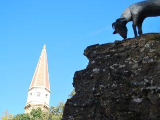Italy, Arezzo – spire, Nov.2014