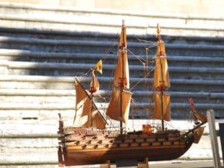 Italy, Arezzo – model ship, Nov.2014