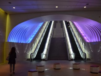 Japan, Atami – escalator, Aug.2014