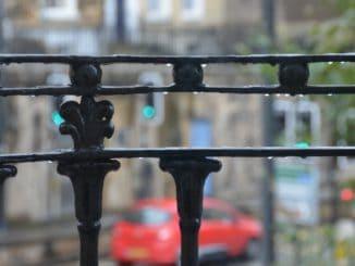 England, Bath – fence, Oct.2013