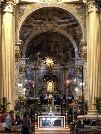 Italy-Bologna-Basilica di San Luca-altar