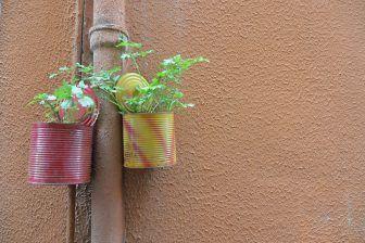 Vasi colorati nel centro storico