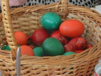 Menu of Easter feast