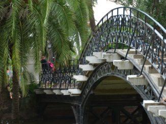 Palermo – bridge in the  garden, Jan.2016