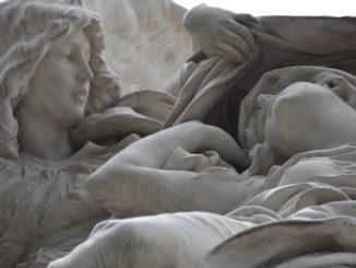 La Recoleta Cemetery – details of a tomb, Jan.2016