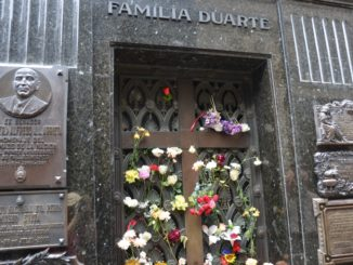 La Recoleta Cemetery – tomb of Evita, Jan.2016
