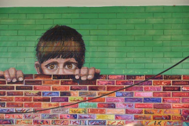 Graffitis convertidos en arte