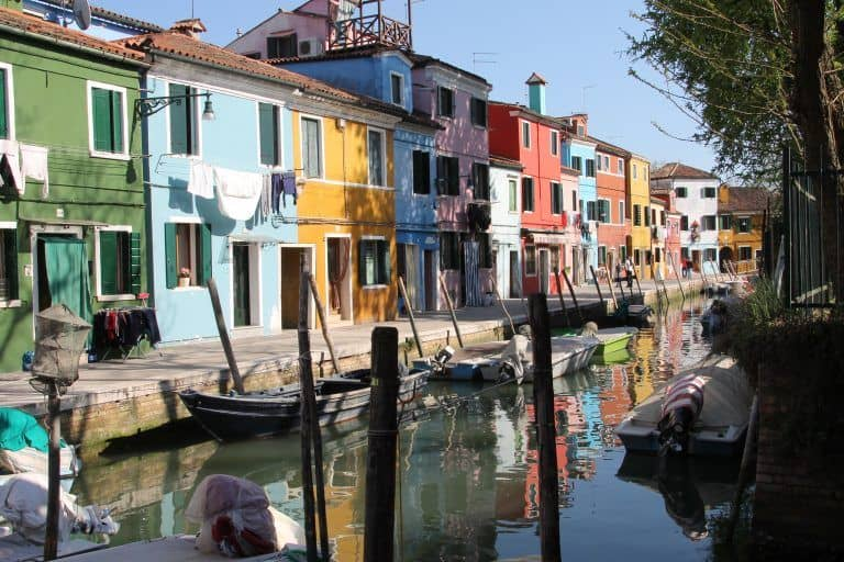 striking colours in Burano