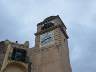 Capri town and clock tower