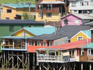 Colourful stilt houses