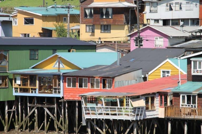 Colourful stilt houses