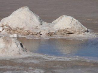 Vast salt lake