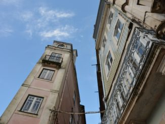 Portugal, Coimbra – looking up, Nov.2014