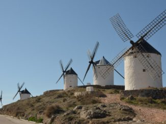 Spain, Consuegra – cyclists, Mar.2014
