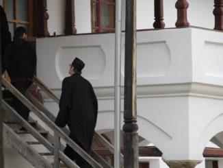 Romania, Cozia Monastery – monk, Apr. 2014