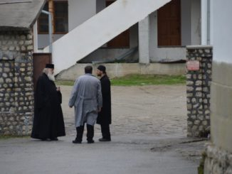 Romania, Cozia Monastery – discussion, Apr. 2014
