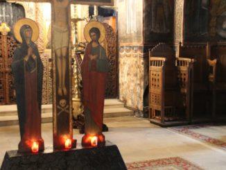 Romania, Cozia Monastery – candles, Apr. 2014