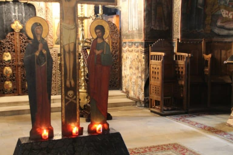 Romania, Cozia Monastery – candles, Apr. 2014 (Valcea)