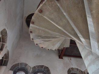 Croatia, Zadar – staircase in tower, July 2014