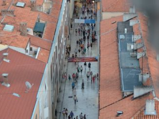 Croatia, Zadar – straight street , July 2014