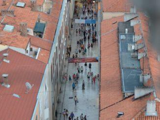 Croatia, Zadar – straight street , July 2014