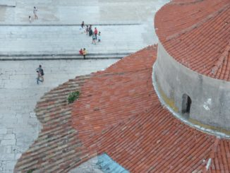 Croatia, Zadar – roofs of a church, July 2014