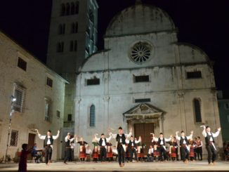 Croatia, Zadar – in front of the church, July 2014