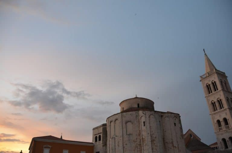 Croatia, Zadar – evening sky and church, July 2014 (Zadar)
