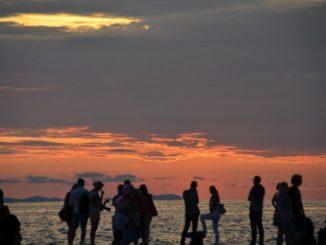 Croatia, Zadar – sea, boat and sunset, July 2014