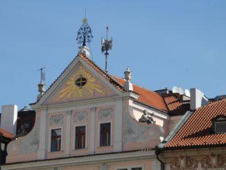 Czech, Prague – decoration on roof, Sept.2013