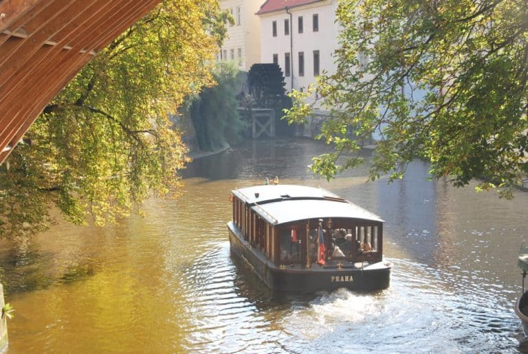 Barca turistica a Praga