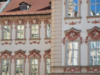 Czech, Prague – reflections on window, Sept.2013