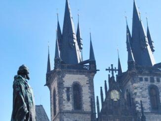 Czech, Prague – statue and church, Sept.2013