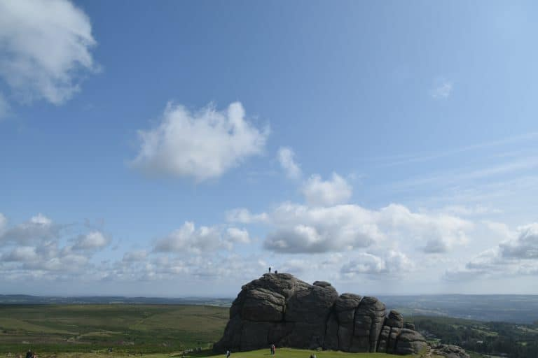at Haytor in Dartmoor National Park